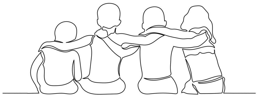 arms on shoulder scribble