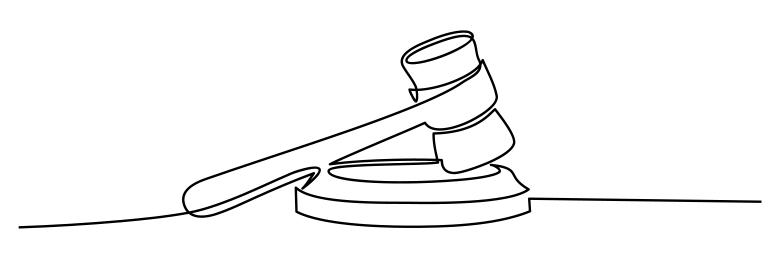 gavel scribble law