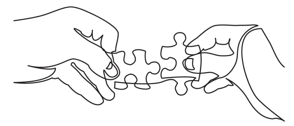 puzzle pieces hands