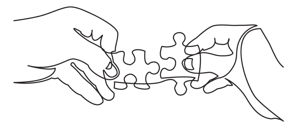 puzzle pieces hands